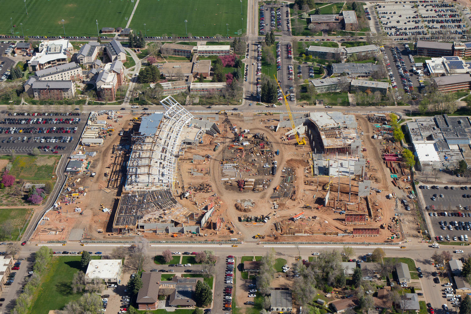 Colorado State Stadium Aerial Photo 2