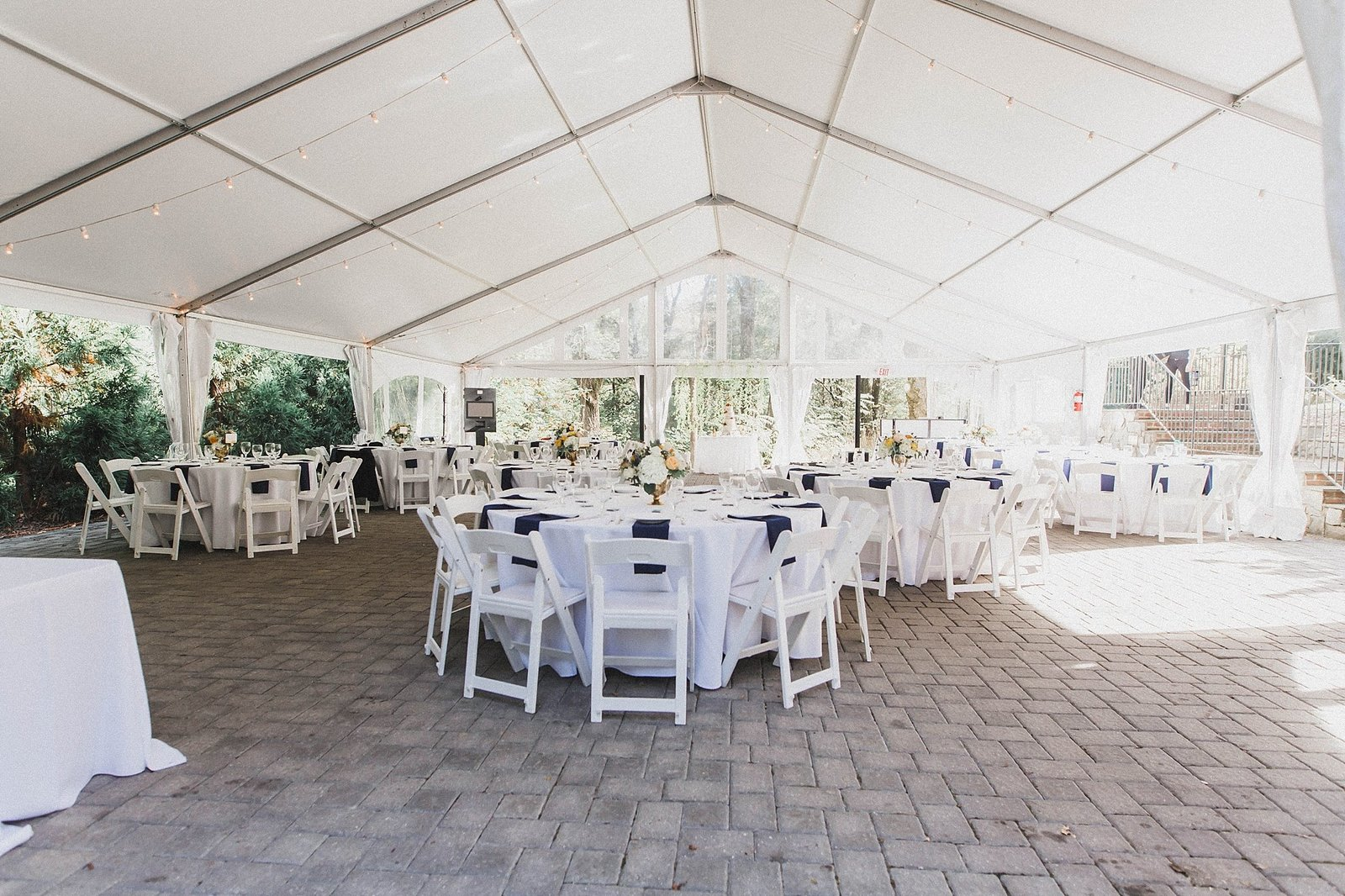 M Harris Studios_Braehead Manor_VA Wedding Photographer_reception tent