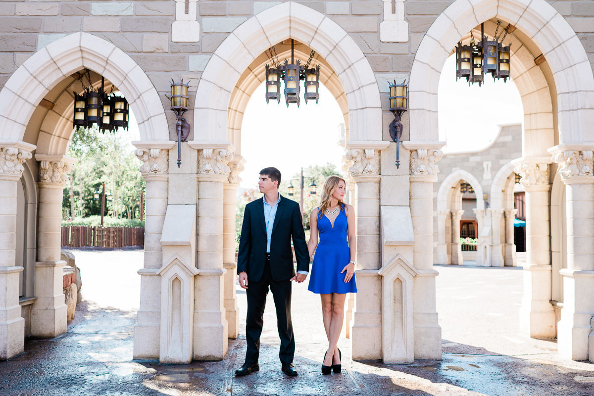 Orlando Engagement Photographer | Disney Magic Kingdom Engagement Session | Enagement at Disney-1