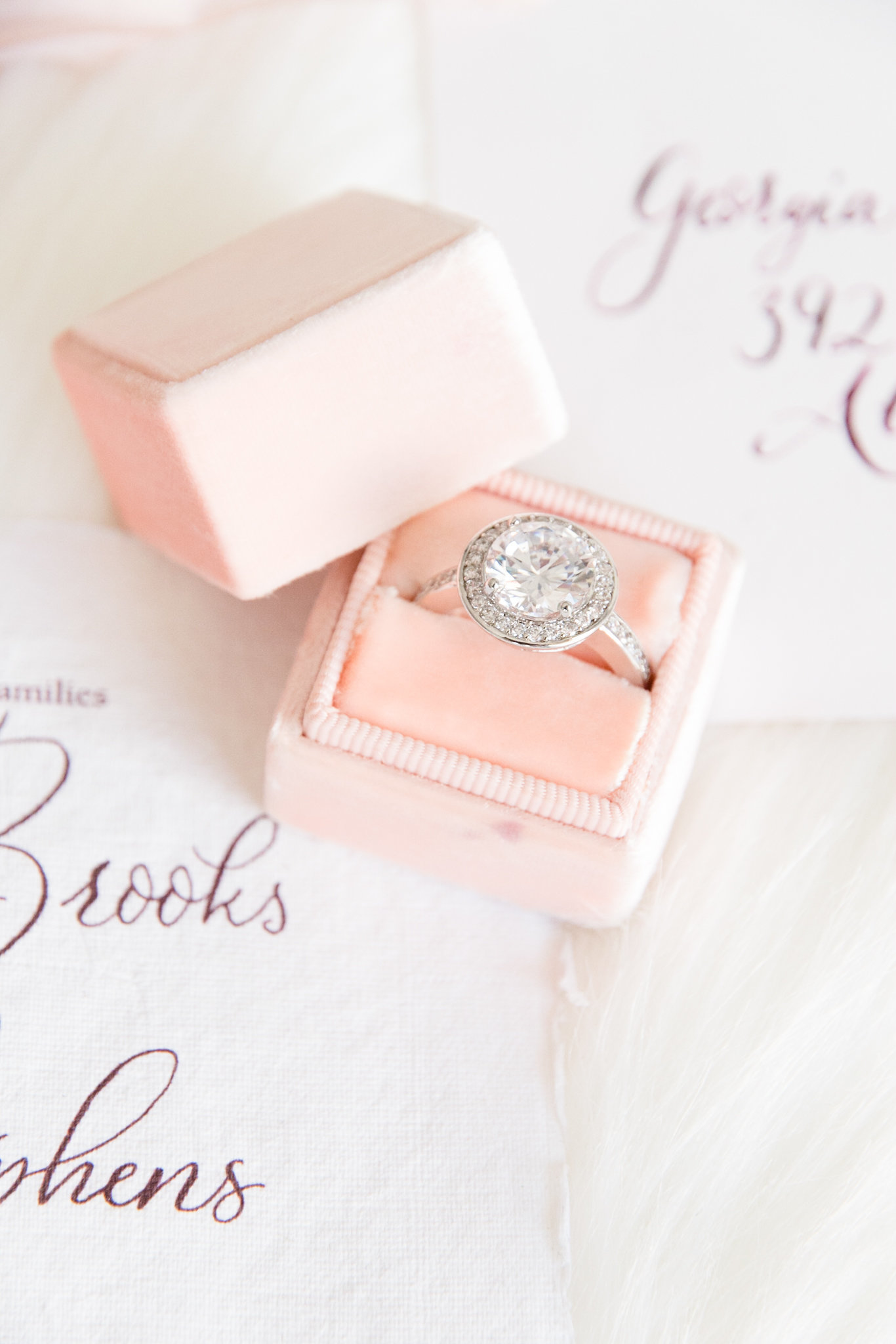 Round Engagement Ring on Invitation Suiite