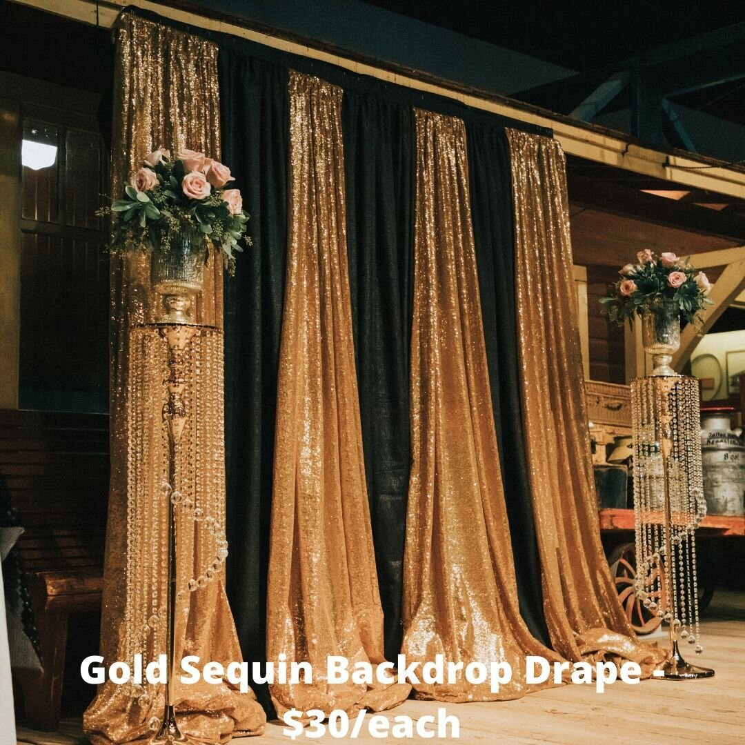 gold sequin drape