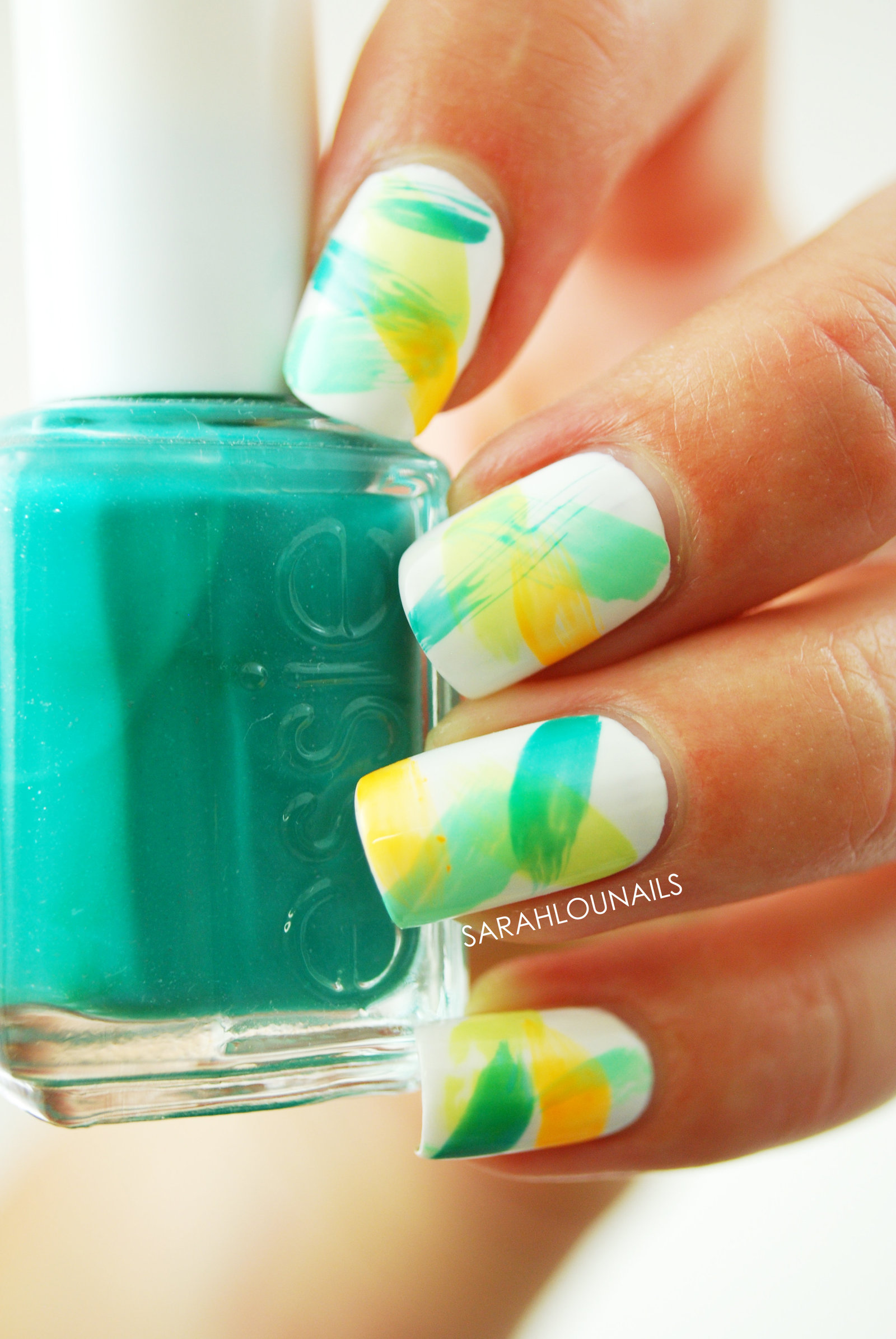 Neon Dry Brush Nails 2