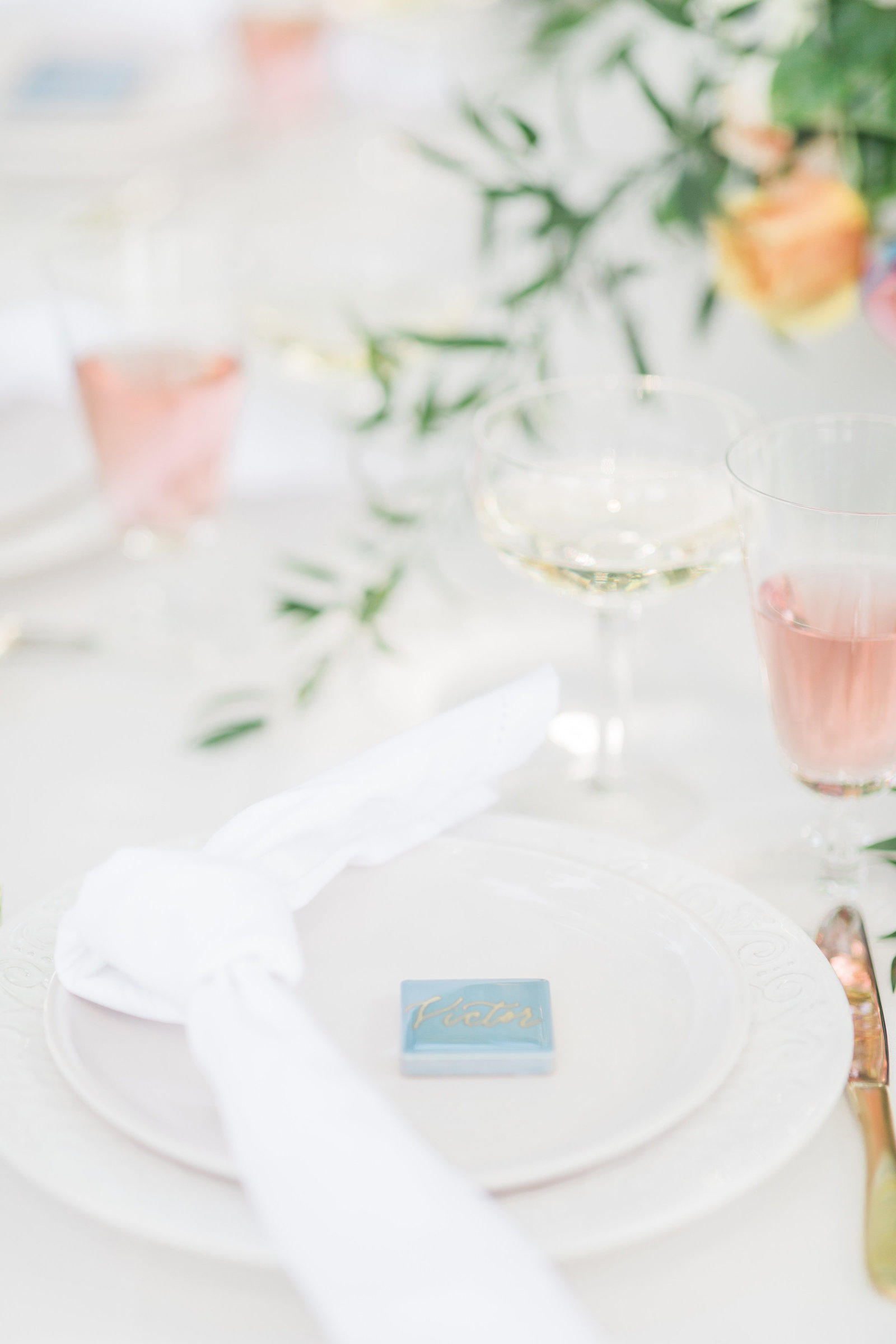 Wedding Place setting at Sandlewood Manor