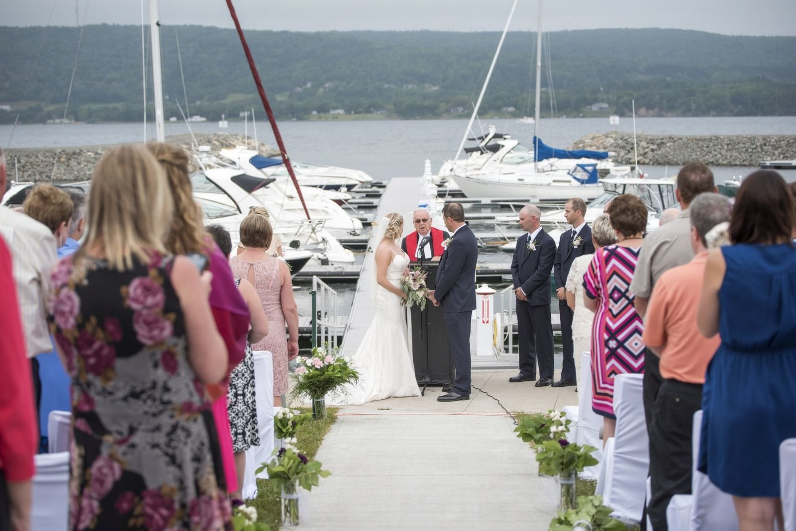 Ben Eoin Yacht Club Wedding - Erica and Andrew