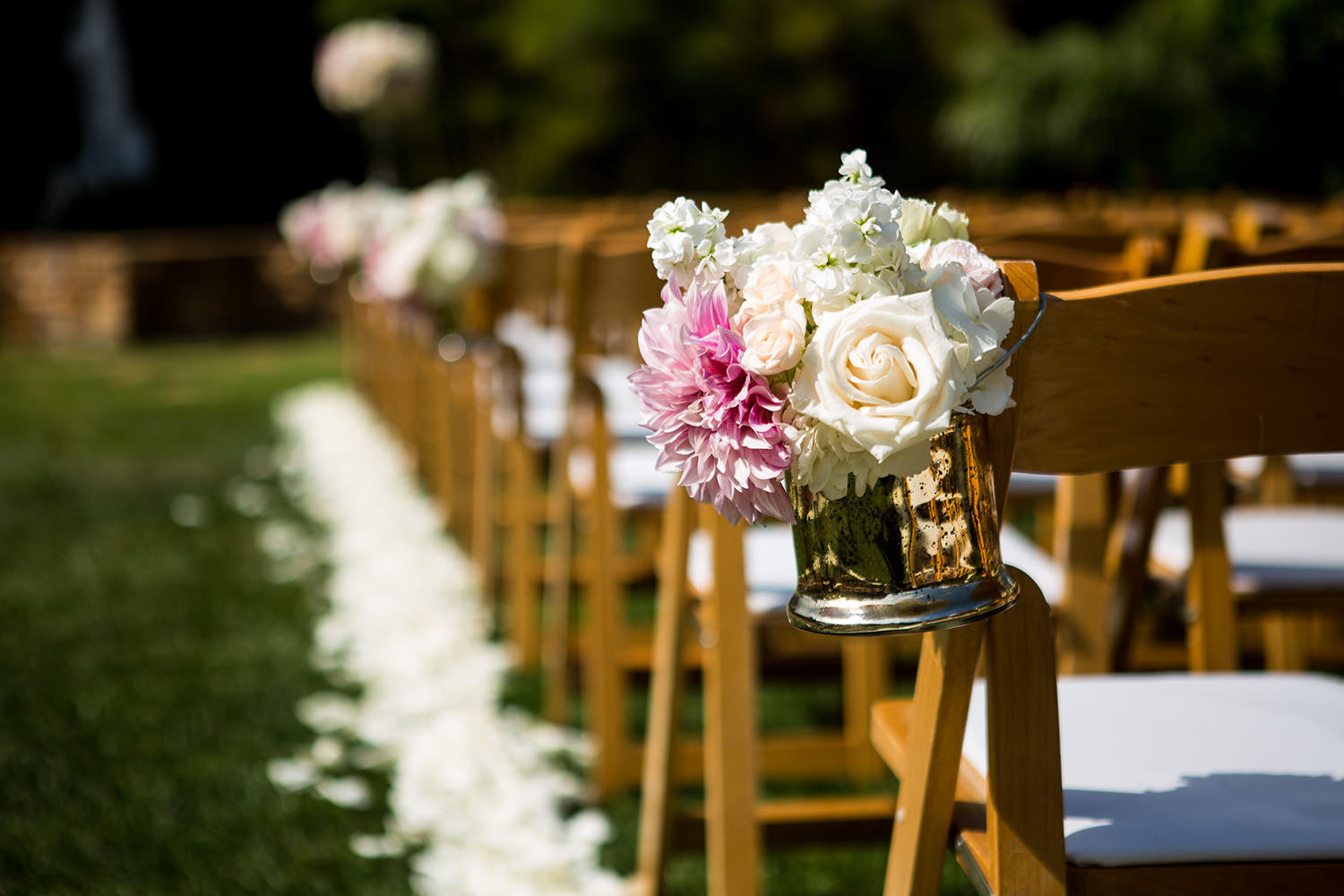 Floral arrangement at a Estancia Wedding