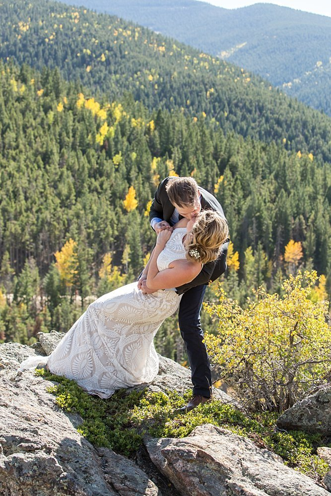 fall wedding in Colorado with Caitlyn and Trevor at North Star Gatherings