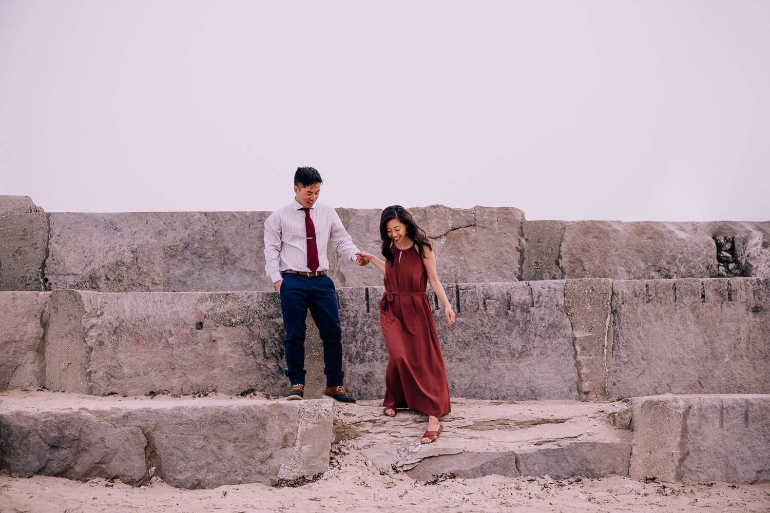 erica-andrew-downtown-chicago-engagement-photography-videography-montrose-beach-47