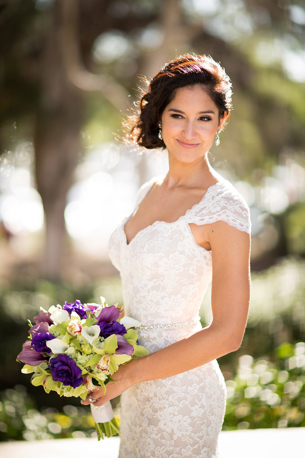 stunning bride at the el cortez