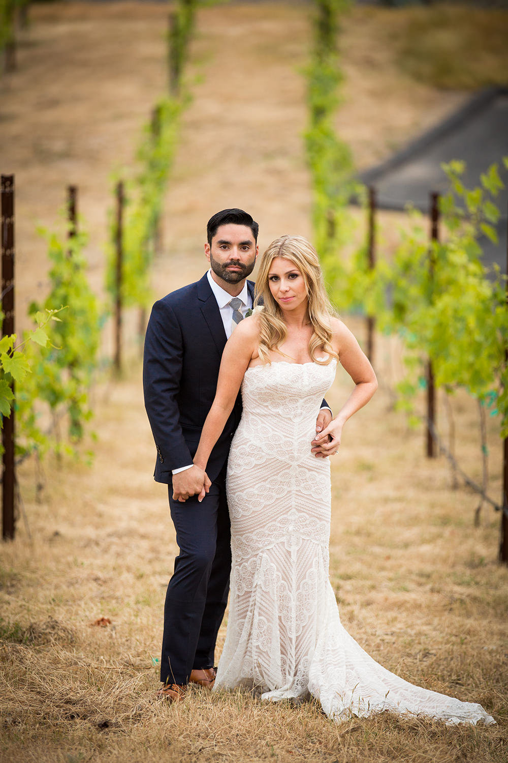 couple in vineyard