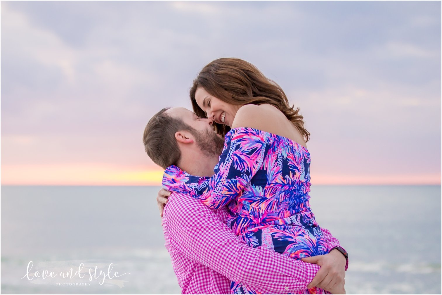 Anna Maria Island Engagement Photography of couple at sunset
