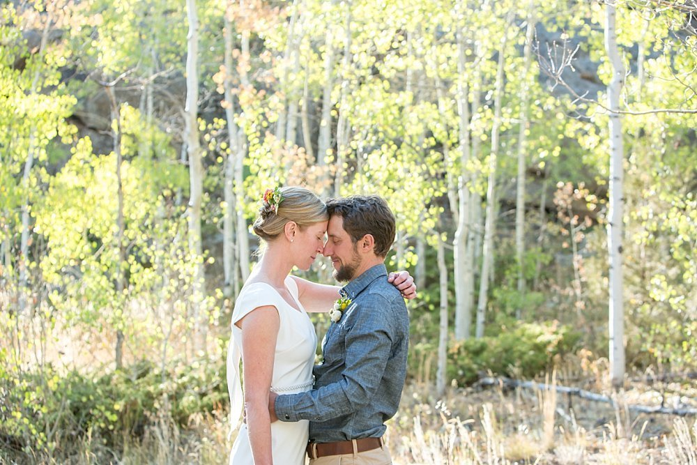 Fall colors couple portrait - fall wedding in Colorado