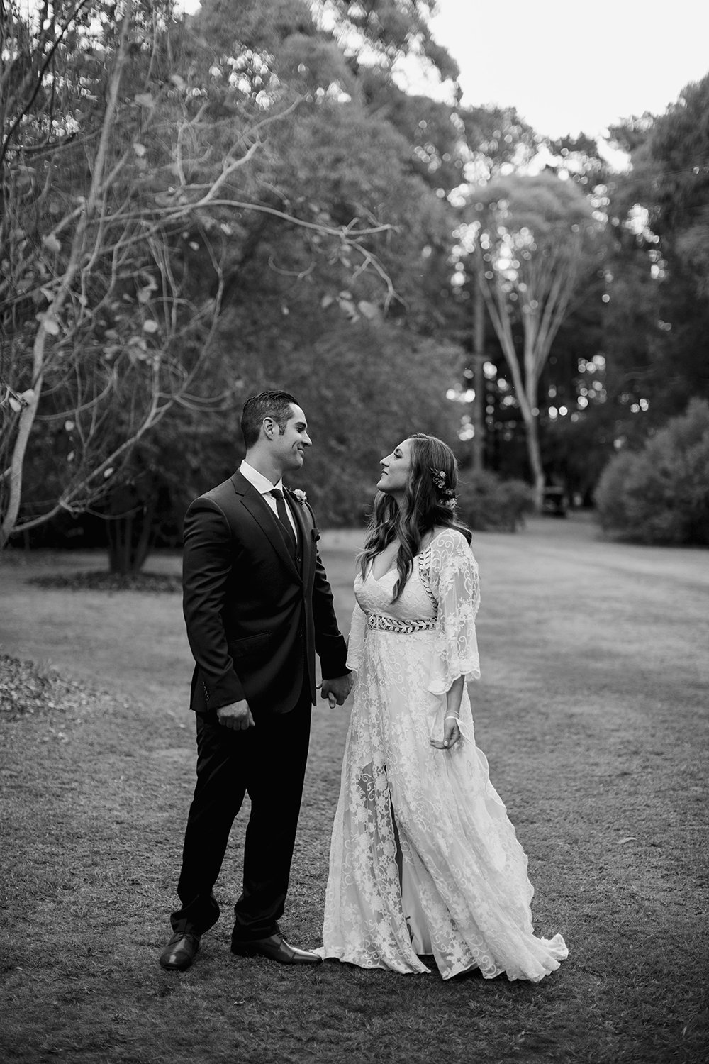 Candid love-filled moment captured by Monika berry Wedding Photographer Melbourne and Geelong