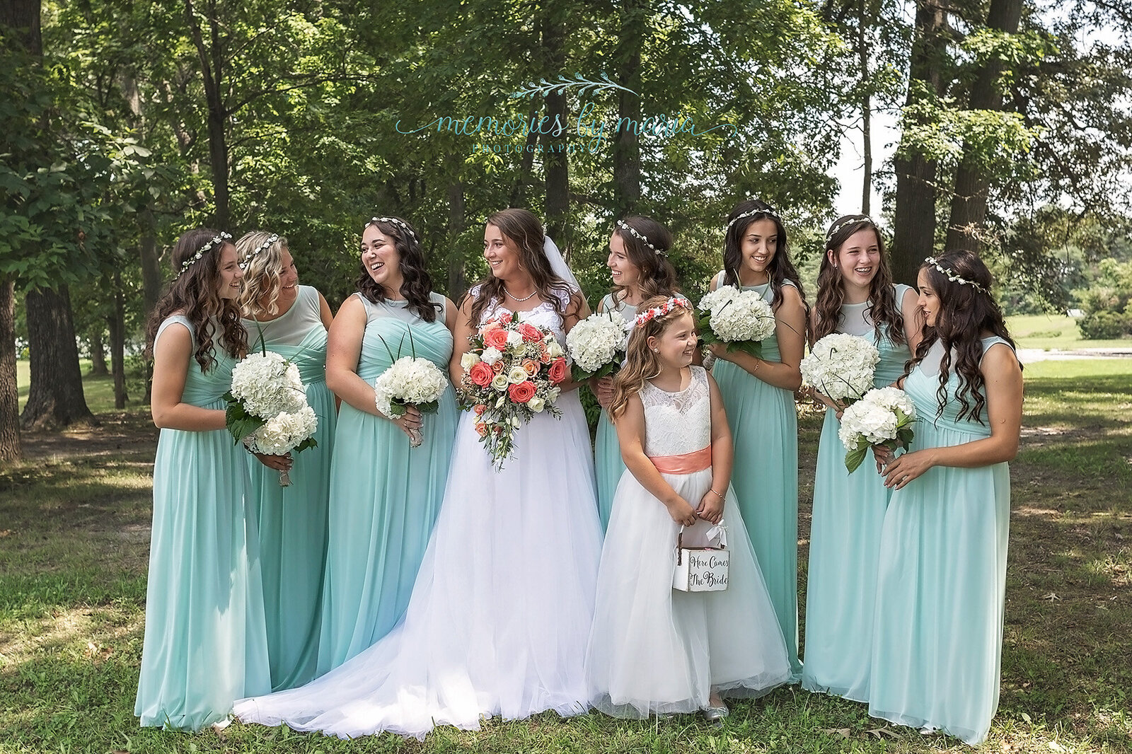 bridal party smiling The estate at monroe williamstown nj