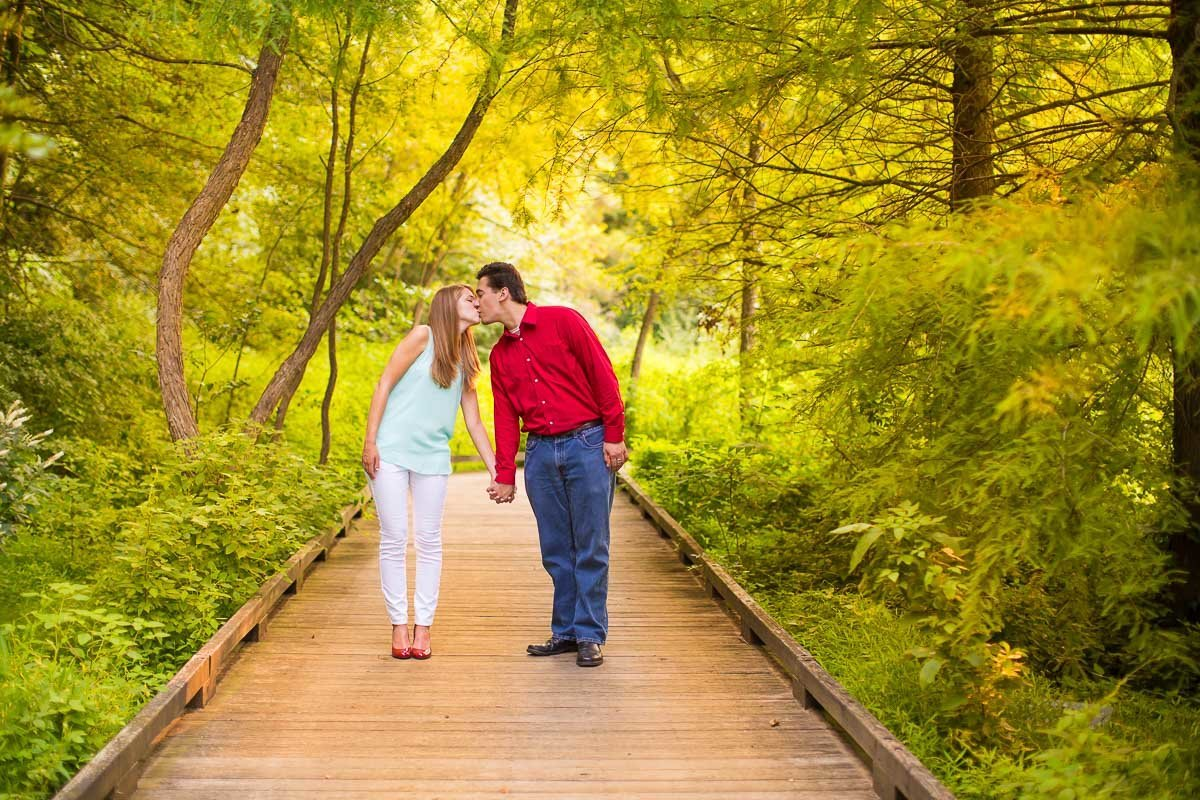 Meadowlark Botanical Gardens VA Wedding photographers engagement photos
