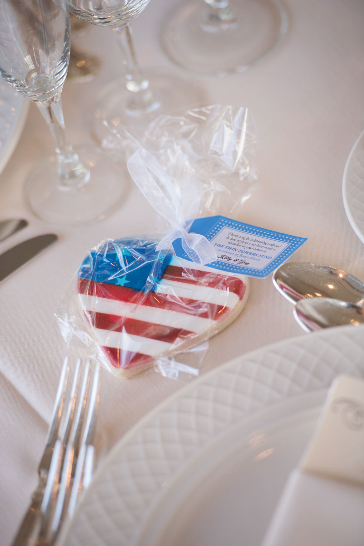 American flag heart cookie at Glen Island Harbor Club