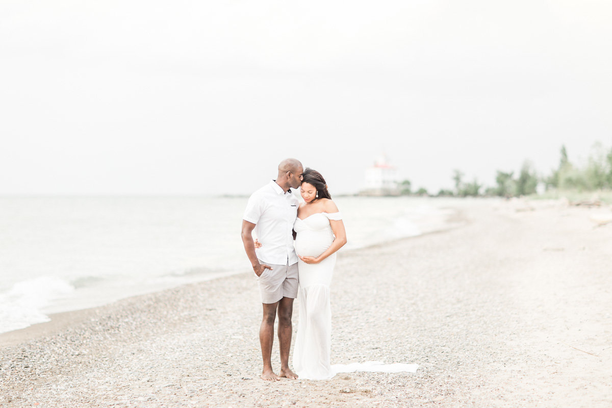 Cleveland Maternity and Newborn Photographer at beach
