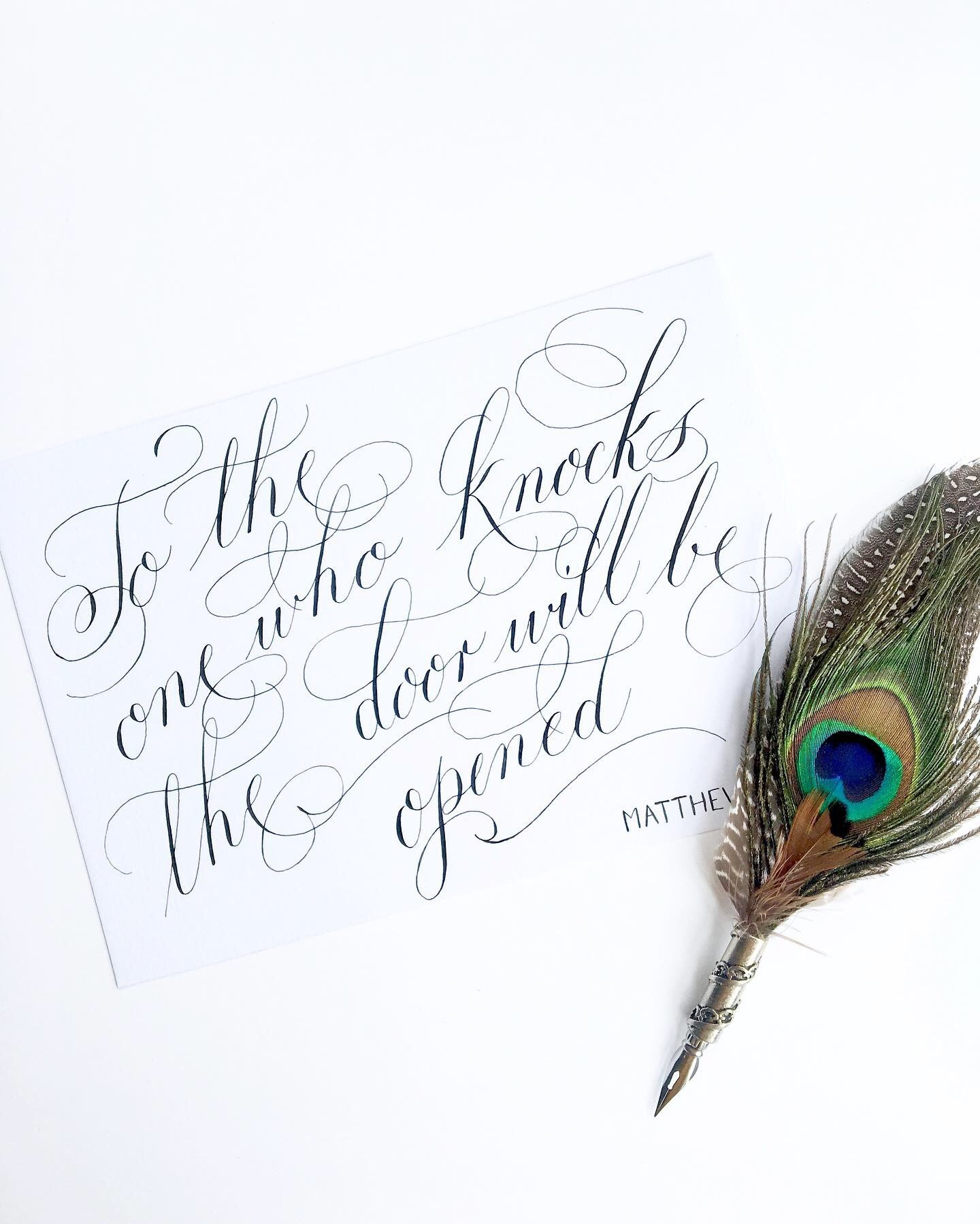Custom calligraphy quote gift