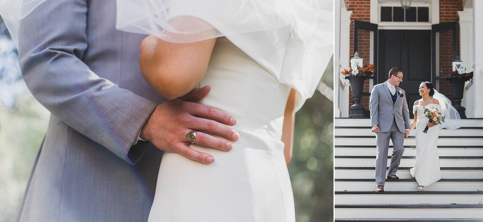 M Harris Studios_Braehead Manor_VA Wedding Photographer_wedding dress details