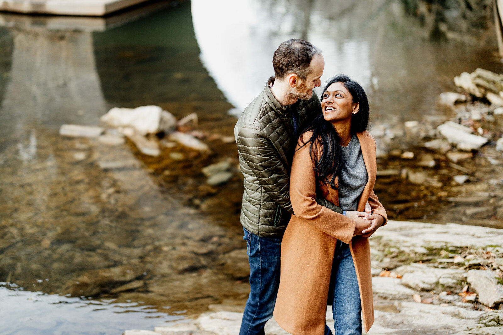 engaged couple wissahickon
