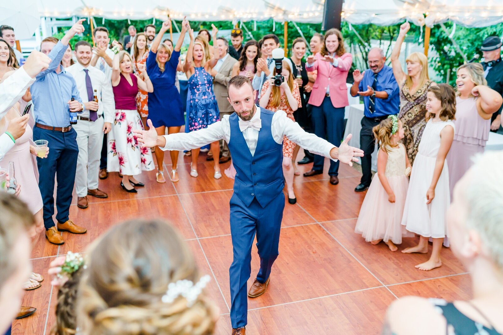 Groomsmen dancing at New Hampshire Wedding Reception