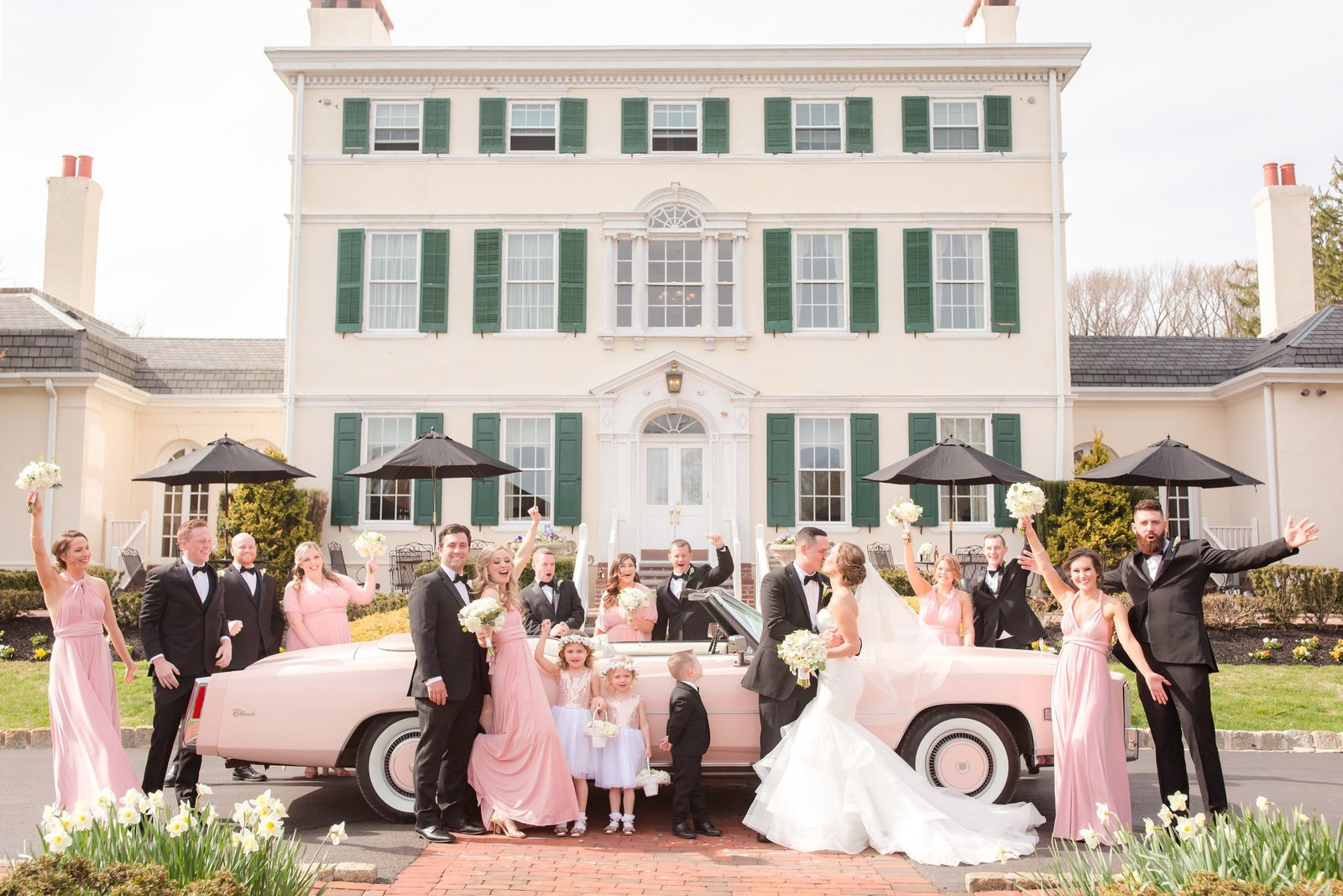 Bridal party photo at Pen Ryn Mansion