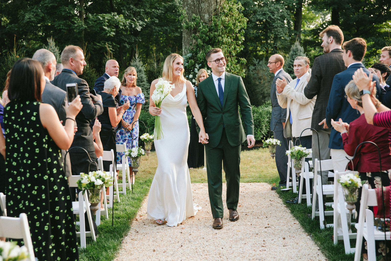Outdoor Ceremony_Home Tented Wedding_Boho Wedding_Darien_Connecticut_10