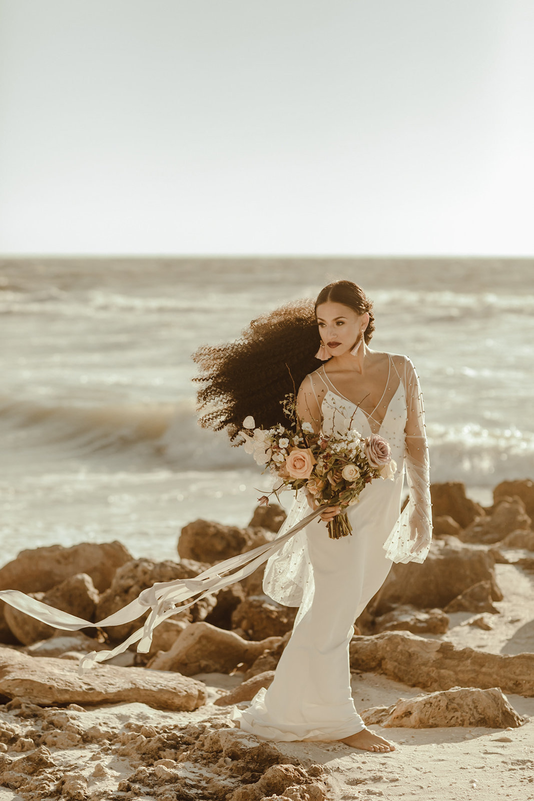 Celestial wedding inspiration_ beach elopement style-80