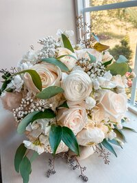 White Bouquet in Windo