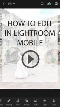 how to edit in lightroom mobile