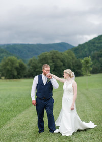 Shades of Blue Rustic Barn Virginia Wedding-151