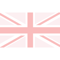 Azalea Design Co. UK Flag Graphic in Pink and Peach