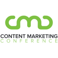 green content markerting conference logo. Letters C,M, and D connected