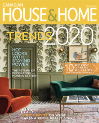 House & Home Magazine Cover Page