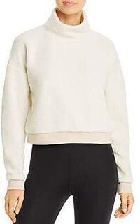 Fleece Cropped Sweatshirt