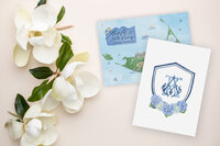 Custom-Watercolor-Nantucket-Wedding-Crest-and-Map
