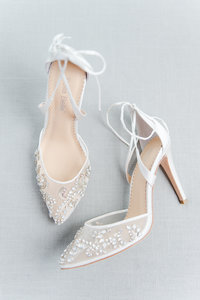 Boston Wedding Photographer Lynne Reznick Photography styled bridal shoes