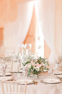 Classy pink wedding reception inspiration