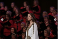 Patrice singing with the Mormon Tabernacle Choir