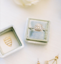 Diamond Engagement Ring in Box | Pittsburgh Wedding Photographer | Anna Laero