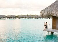 View in the Intercontinental Thalasso at Bora Bora during a couple photoshoot