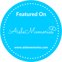 Aisle Memories Featured Wedding Badge