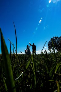 Couple dancing in a field Minneapolis wedding photographer