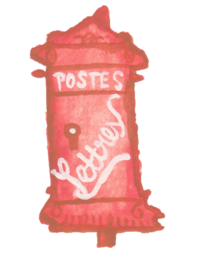 French-Red-Letterbox-Watercolor