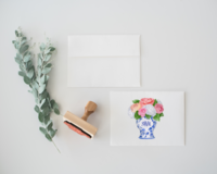 Monogram Ginger Jar Stationery 2 Mockup