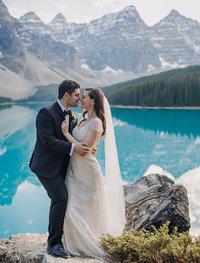 moraine lake elopement photography