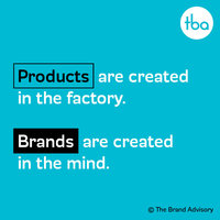 Branding quote by The Brand Advisory Hallam