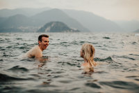couple in ocean