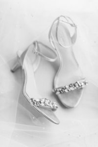 Bride's shoes at San Francisco wedding