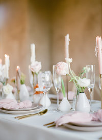 Reception table decorations in Charleston, SC wedding