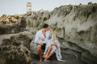 House of Refuge Beach Wedding Elopement White Lace Bridal web-7